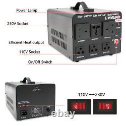 3000W Voltage Converter Transformer Heavy Duty Step Up Down 110v-230v/230v-110v