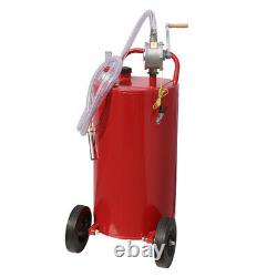35 Gallon Hand Pump Oil Converter Fuel Transfer Tank Durable Heavy Duty Steel