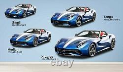 3D Blue Convertible P56 Car Wallpaper Mural Poster Transport Wall Stickers Zoe