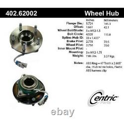 402.62002 Centric Wheel Hub Front or Rear Driver Passenger Side New 4-Wheel ABS