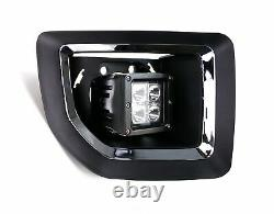 40W CREE LED Pods withFoglight Cover, Bracket Mounts Relay For 15-19 GMC 2500 3500
