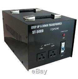 5000W Watt Step Up Down Electric Power Voltage Converter Transformer Heavy Duty
