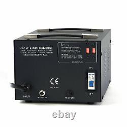 5000 W Watt Step Up/Down Voltage Converter Transformer with Circuit Breaker