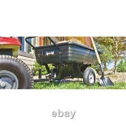 Agri-Fab 45-0345 350 lbs Poly Convertible Push & Tow Dump Cart 32 x 47 x 70 in