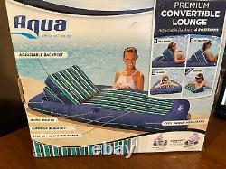 Aqua Premium Convertible Pool Lounger, Inflatable Pool Float, Heavy Duty, X-Larg