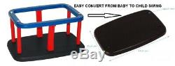 Baby Rubber Swing Seat Convertible Heavy Duty With Chainset Childrens Playhouse