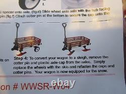 Canadian Made, Millside WWSRW Convertible Wooden Sleigh / Wagon