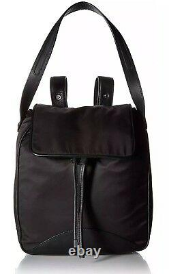 Cole Haan Zerogrand Nylon Leather-Trimmed Backpack In Black