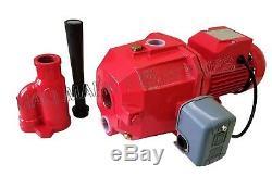 Convertible Deep Well Jet Pump, 3/4 HP 115/230V, max 65', heavy duty cast iron