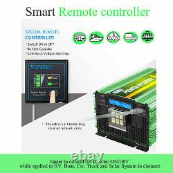 EDECOA Pure Sine Wave Power Inverter 12V to 240V 3500W Converter Heavy Duty LCD