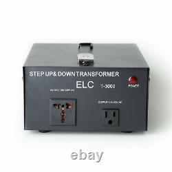 ELC 3000 Watt Voltage Converter Transformer-Step Up/Down (110V/220V)(T-3000UD)