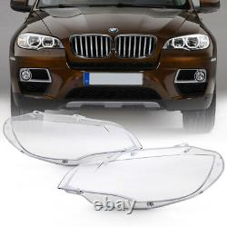 Extra Clear+Heavy Duty 08-14 BMW E71 X6 Replacement Headlight Lamp Cover Lens