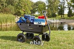 Gor6ps Poly Yard heavy duty trash cart with convertible 2-in-1 handle