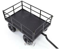 Gorilla Steel Utility Cart Heavy-Duty 1,200 lb. 46 in. X 30 in. Hitch Converter