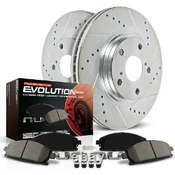 K1517 Powerstop 2-Wheel Set Brake Disc and Pad Kits Front New for Chevy Corvette