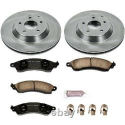KOE4913 Powerstop Brake Disc and Pad Kits 2-Wheel Set Front New for Chevy