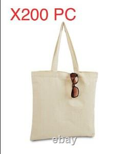 LOT of 200 Canvas bag shopping Tote Bag, Beach Totes, Reusable Grocery LB8502