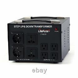 LiteFuze LT-5000 5000 Watt Voltage Converter Transformer Step Up/Down 110
