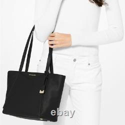 Michael Kors Whitney Medium Black Leather Tote NWT