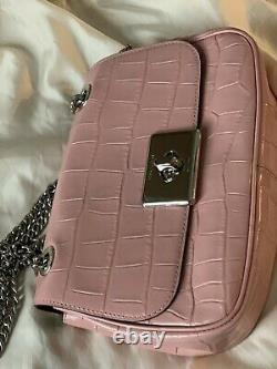 NEW COACH Embossed Crocodile Cassidy Crossbody Bag Purse withChain straps F38081
