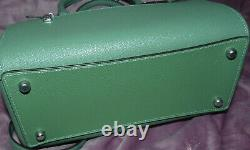 NWT COACH ROWAN LEATHER CROSSBODY SATCHEL TOTE PURSE WithHANDLES GREEN F79946