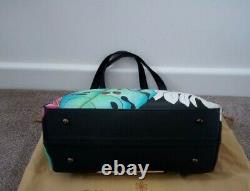 NWT Women's Anuschka Hand Painted Leather Lovely Leaves Tote Shoulder Handbag