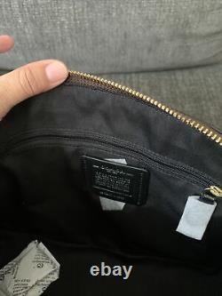 New Coach Katy Sig Crossbody Satchel Purse Brown/black Canvas Leather 2558