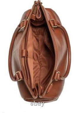 New OEMI BABY BROWNSTONE ANILINE Pebbled Premium LEATHER DIAPER Tote SATCHEL BAG