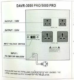 Norstar 5000 Watt Voltage Converter & Stabilizer 110V 220V Transformer 5000W