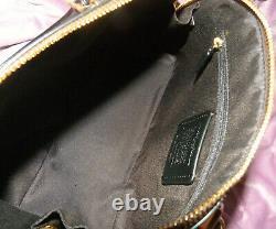 Nwt Coach Katy Sig C's Crossbody Satchel Purse Brown Black Canvas Leather 2558