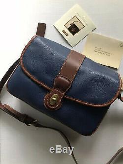Nwt Coach Vintage Sheridan Leather Navy/british Tan Bag Purse 4225 USA