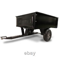 Riding Mower Poly Convertible Cart 350lbs. Capacity Convertible Push Tow Hauling