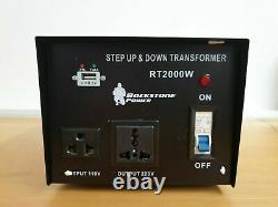 Rockstone Power 2000 Watt Heavy Duty Step Up/Down Voltage Transformer Converter