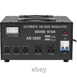 Seven Star AR5000 Watt Step Up-Down Voltage Converter Stabilizer 220v 110v 5000W
