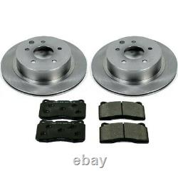 TDBK5158 Powerstop Brake Disc and Pad Kits 2-Wheel Set Front New for Chevy XLR