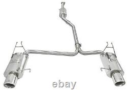 Takeda 2-1/4 to 2 304 Stainless Cat-Back Exhaust For 08-2012 Honda Accord 3.5L