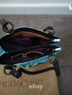Women's Anuschka Hand Painted Leather LittleMermaid Convertible Shoulder Handbag
