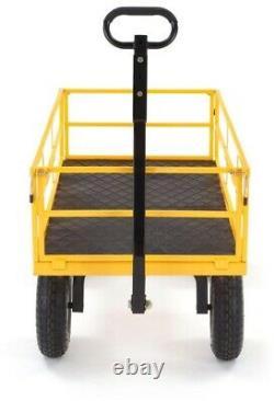 1 200 Lb De Chariot De Triage Utilitaire Acier Lourd Avec Poignée Convertible 2-en-1