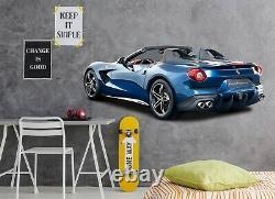 3d Bleu Convertible P56 Car Fond D'écran Affiche Murale Transport Wall Stickers Zoe