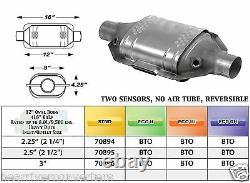 70816 Est Universel Convertisseur Catalytique Heavy Duty Catalyseur 3 Tuyau 12 Corps