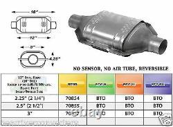 70864 Est Convertisseur Catalytique Heavy Duty 2,25 2 1/4 Tuyau 12 Corps
