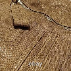 B. Makowsky Ollie Satchel Tan Shimmer Cuir Nouveau Convertible