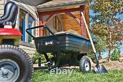 Cabriolet Dump Push Cart Trolley Garden Lawn Yard Utility Wagon Wheelbarrow