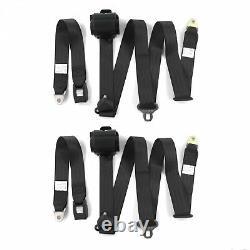 Camaro 1970 1981 3pts Noire Rétractable Standard Seau Seatbelt Kit 2 Ceintures