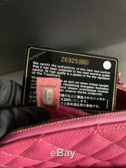 Chanel Rose Caviar Sac À Dos D'or Daypack Mini Voyage Petit Flap Classique Rare Nouveau