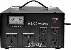 Convertisseur De Transformateur De Tension Elc 5000 Watt Avec L'étape De Régulateur De Builtin