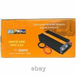 Convertisseur Poids De Tension Poids Lourd 24v/220v 3000w-6000w In Tip Standards Ce