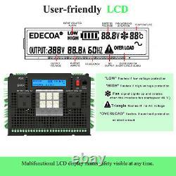 Edecoa Pure Sine Wave Power Inverter 12v À 240v 3500w Convertisseur LCD Lourd
