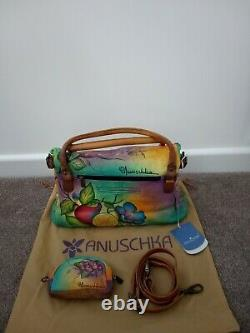 Femme Anuschka Hand Painted Leather Fruity Fiesta East West Convertible Sac À Main