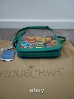 Femme Anuschka Leather Hand Painted Two For Joy 14001-tfj Cross Body Sac À Main